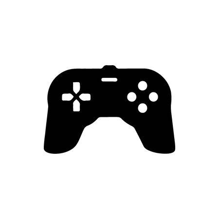 Black GAME WIRELESS JOYSTICK Controller symbol for banner, general design print and websites. Illustration vector. Standard-Bild - 133537064