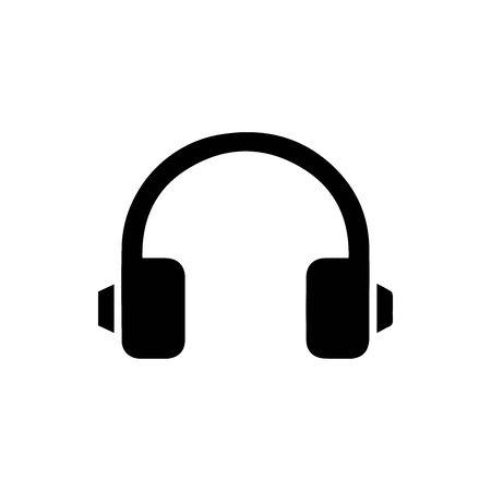 Black Wireless Music Earphone symbol for banner, general design print and websites. Illustration vector. Standard-Bild - 134596281
