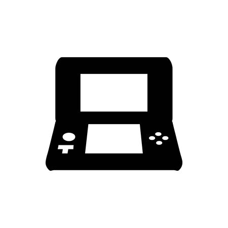 Black Pocket video games symbol for banner, general design print and websites. Illustration vector. 矢量图像