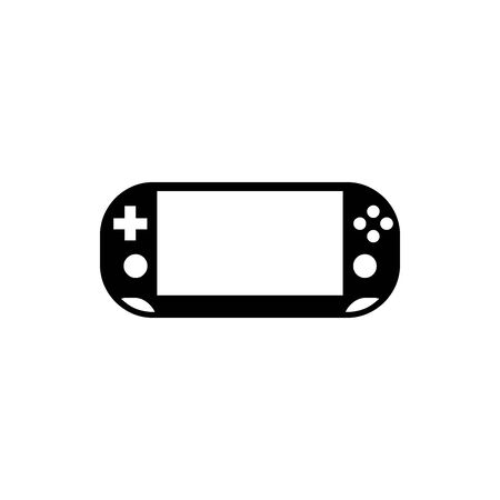 Black Handheld game console symbol for banner, general design print and websites. Illustration vector. Standard-Bild - 134596365