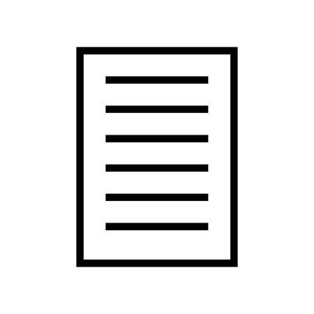 Document symbol for banner, general design print and websites. Illustration vector.