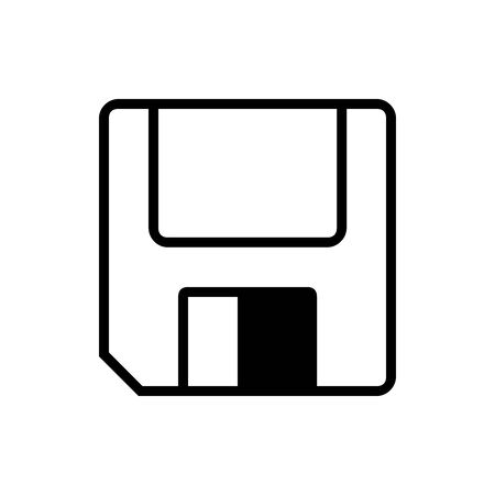 Black floppy disc symbol for banner, general design print and websites. Illustration vector.