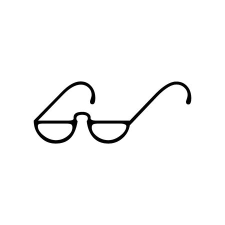 Cute glasses icon for banner, general design print and websites. Illustration vector.