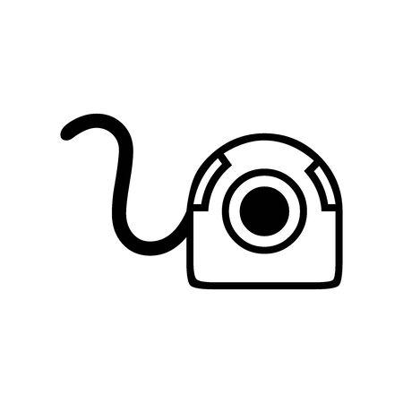 Black Live camera symbol for banner, general design print and websites. Illustration vector.