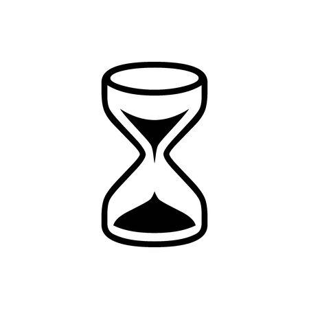 Black Time symbol for banner, general design print and websites. Illustration vector. Illusztráció