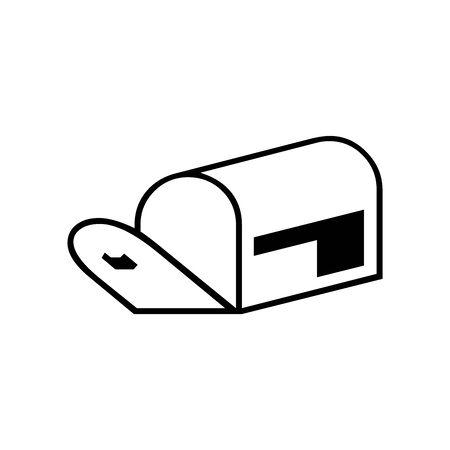 Mailbox symbol for banner, general design print and websites. Illustration vector.