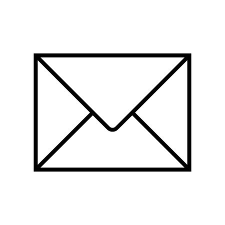 Cute Email icon for banner, general design print and websites. Illustration vector.