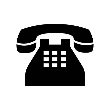 Cute Telephone icon for banner, general design print and websites. Illustration vector. Foto de archivo - 137472924