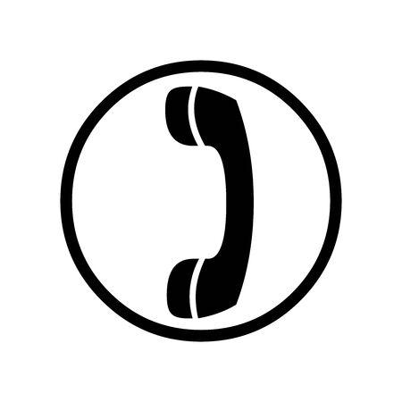 Cute Telephone icon for banner, general design print and websites. Illustration vector. Foto de archivo - 137472925