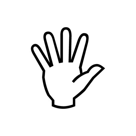 Black Pointed Ban symbol for banner, general design print and websites. Illustration vector.