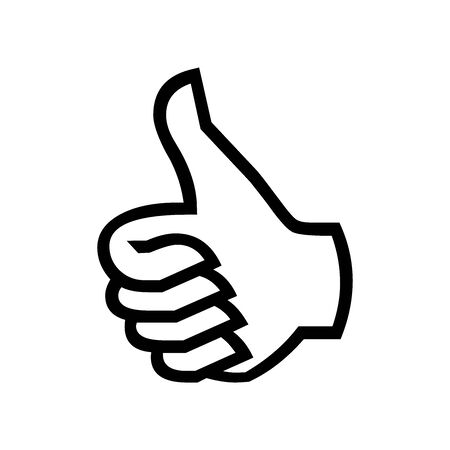 Black Good hand symbol for banner, general design print and websites. Illustration vector. Illusztráció