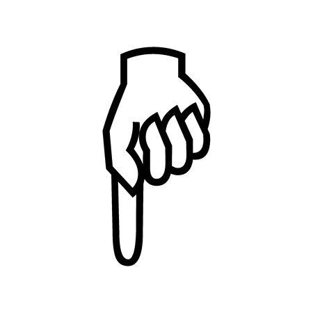 Black Pointed down symbol for banner, general design print and websites. Illustration vector.