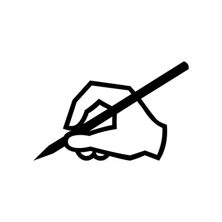 Black Hand write symbol for banner, general design print and websites. Illustration vector.