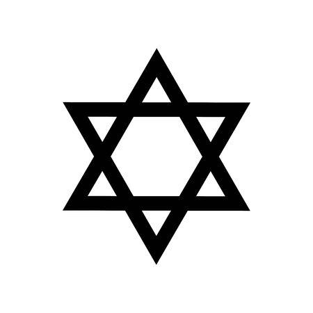 Black Jews symbol for banner, general design print and websites. Illustration vector. Illusztráció