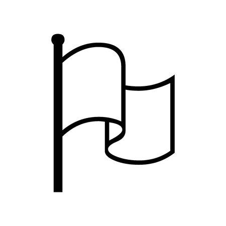 Black goal symbol for banner, general design print and websites. Illustration vector.