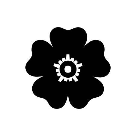 Black Sakura symbol for banner, general design print and websites. Illustration vector.