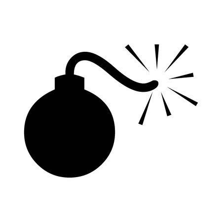 Black bomb symbol for banner, general design print and websites. Illustration vector.