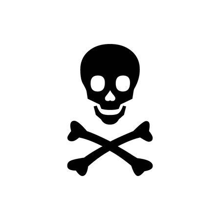 Black Toxic symbol for banner, general design print and websites. Illustration vector. Illusztráció