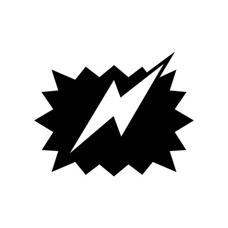 Cute Thunder Flash box icon for banner, general design print and websites. Illustration vector.