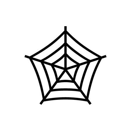 Black Spider net symbol for banner, general design print and websites. Illustration vector.