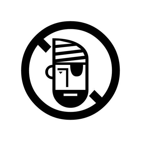 Black Do not steal symbol for banner, general design print and websites. Illustration vector. Illusztráció