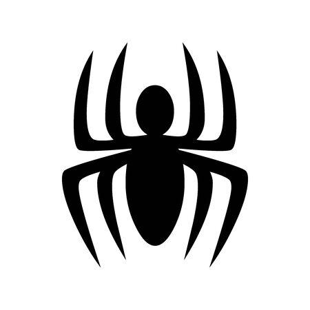 Black Spider symbol for banner, general design print and websites. Illustration vector.