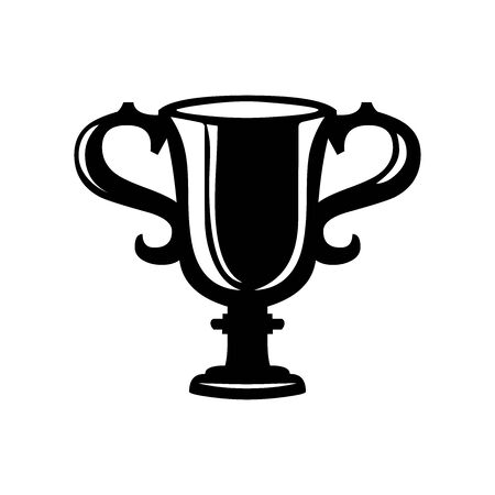 Black Trophy symbol for banner, general design print and websites. Illustration vector.