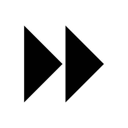 Black Fast forward symbol for banner, general design print and websites. Illustration vector.