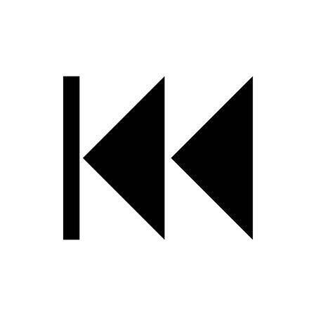 Black back to beginning symbol for banner, general design print and websites. Illustration vector. 일러스트
