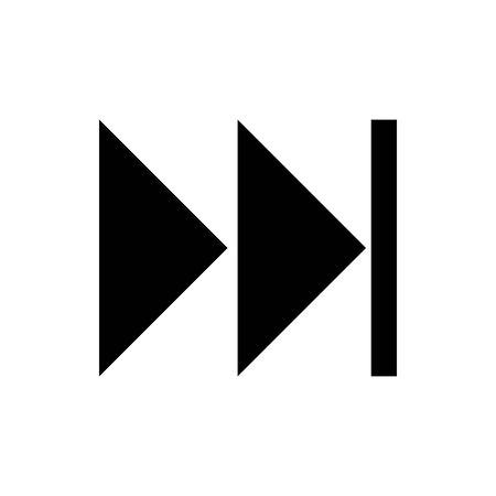 Black Forward to Last next symbol for banner, general design print and websites. Illustration vector. 일러스트