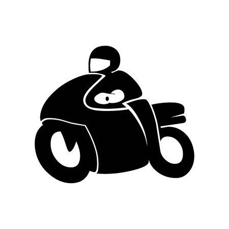 Black Motorcycle racing symbol for banner, general design print and websites. Illustration vector.