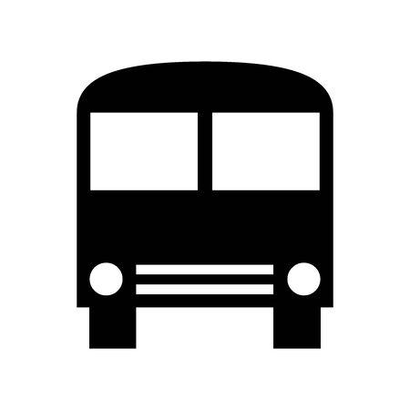 Black School-bus symbol for banner, general design print and websites. Illustration vector.