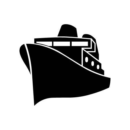 Black Sea boat symbol for banner, general design print and websites. Illustration vector.