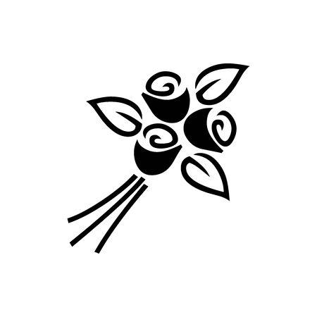 Black congratulatory symbol for banner, general design print and websites. Illustration vector.