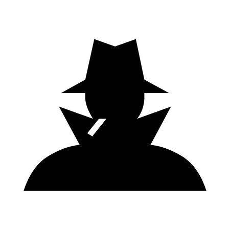 Black Detective symbol for banner, general design print and websites. Illustration vector.