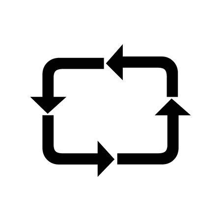 Black loop process symbol for banner, general design print and websites. Illustration vector.