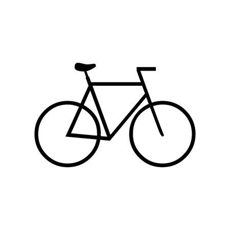 Black Bicycle symbol for banner, general design print and websites. Illustration vector. 일러스트