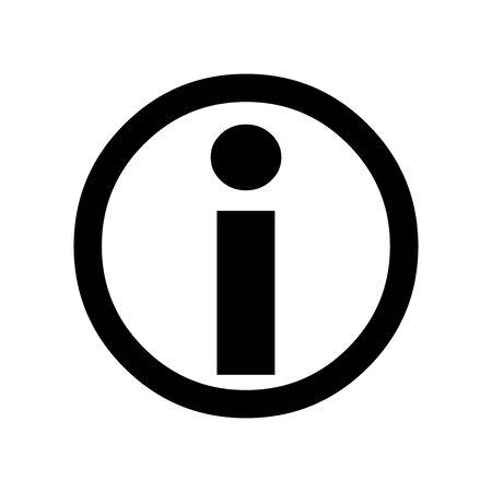 Black Information symbol for banner, general design print and websites. Illustration vector.