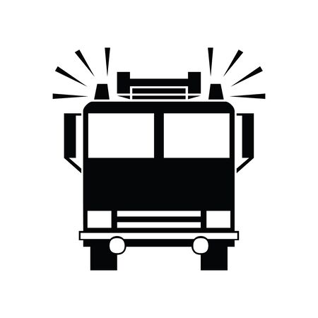 Cute Fire truck icon for banner, general design print and websites. Illustration vector. 일러스트