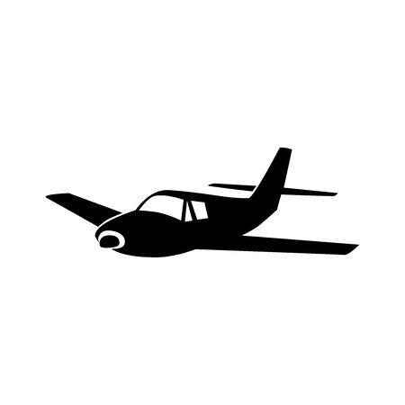 Black aircraft symbol for banner, general design print and websites. Illustration vector.