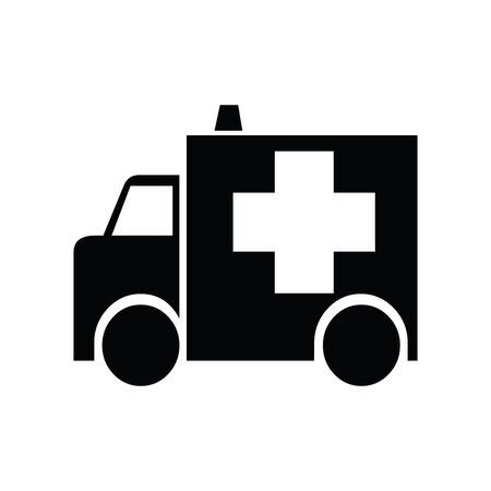 Cute Ambulance icon for banner, general design print and websites. Illustration vector.