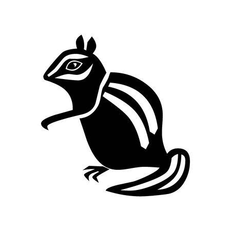 Black rat symbol for banner, general design print and websites. Illustration vector.
