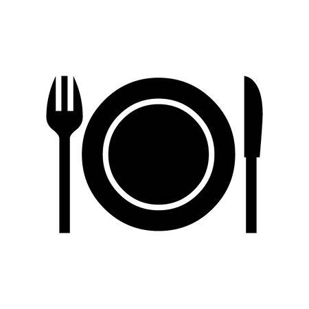Black Restaurant symbol for banner, general design print and websites. Illustration vector.