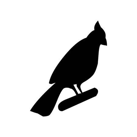 Black Bird symbol for banner, general design print and websites. Illustration vector.