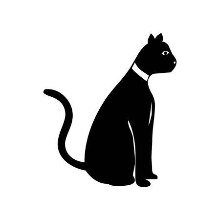 Black Cat symbol for banner, general design print and websites. Illustration vector.