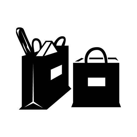 Black Shopping symbol for banner, general design print and websites. Illustration vector.