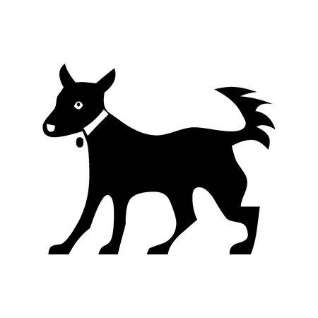 Black dog symbol for banner, general design print and websites. Illustration vector. 일러스트