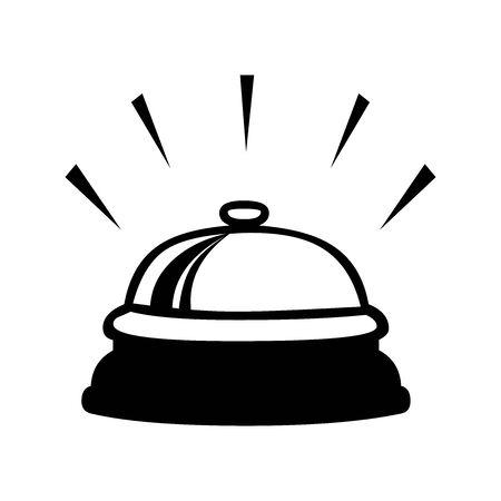 Black bell service symbol for banner, general design print and websites. Illustration vector. 일러스트