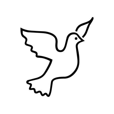 Black Freedom symbol for banner, general design print and websites. Illustration vector.