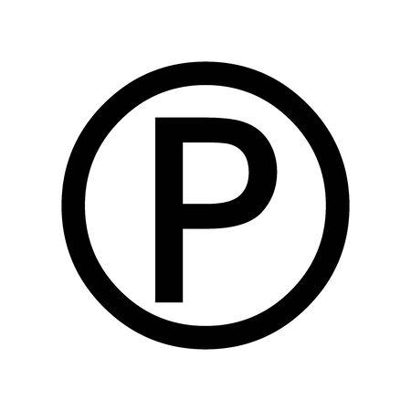 Black Parking symbol for banner, general design print and websites. Illustration vector.